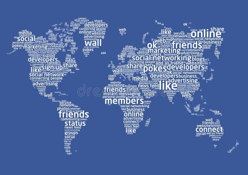 Le monde de la gestion de réseau sociale illustration stock