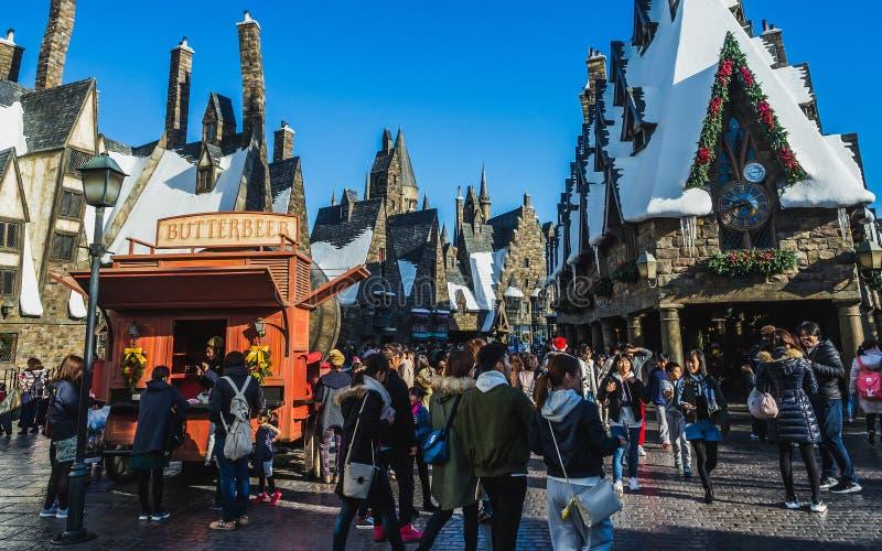 Le monde de Wizarding de Harry Potter dans les studios universels Japon images libres de droits