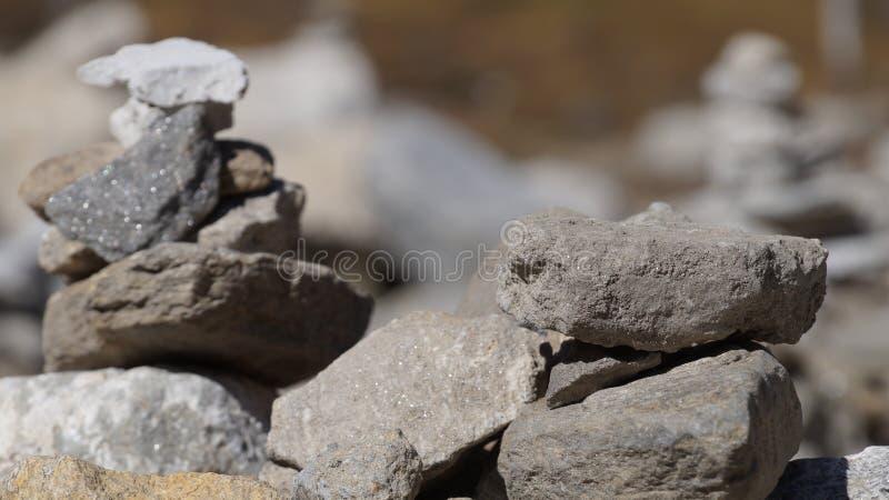 Le monde des pierres photo libre de droits