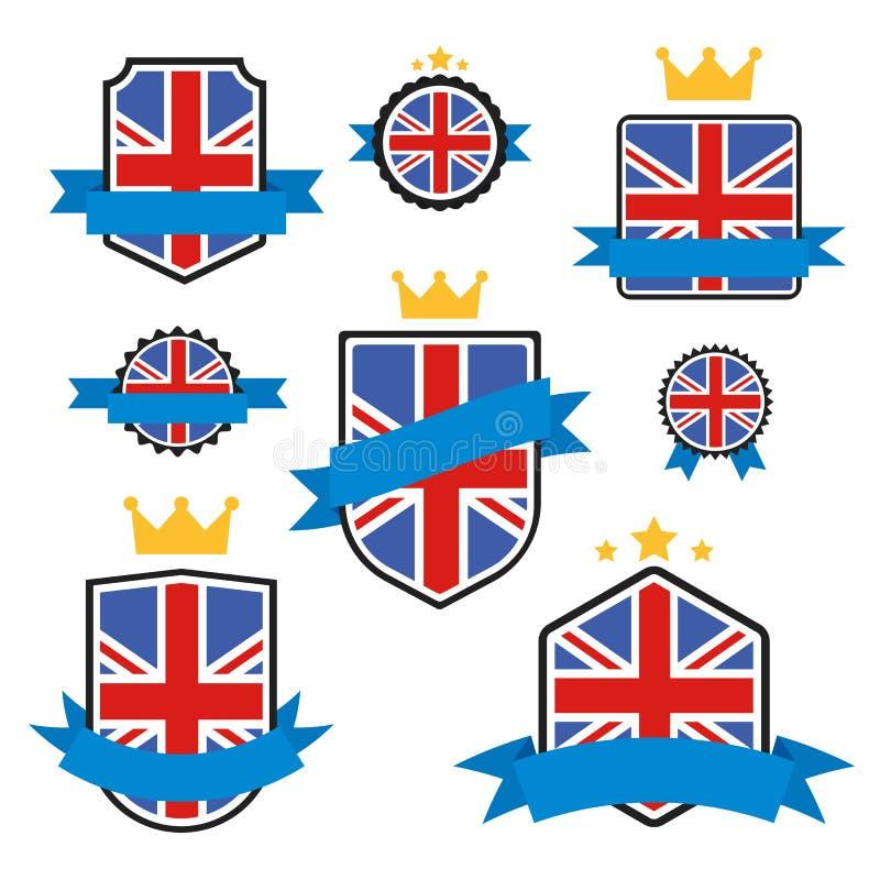 Le monde marque la série Drapeau de vecteur du Royaume-Uni illustration de vecteur