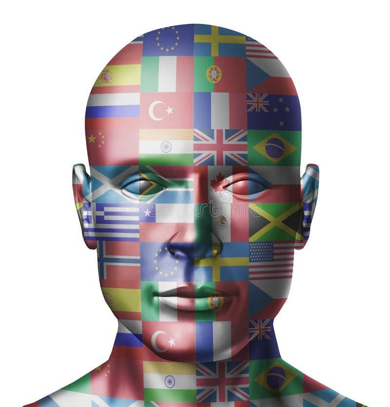 Le monde marque le visage illustration libre de droits