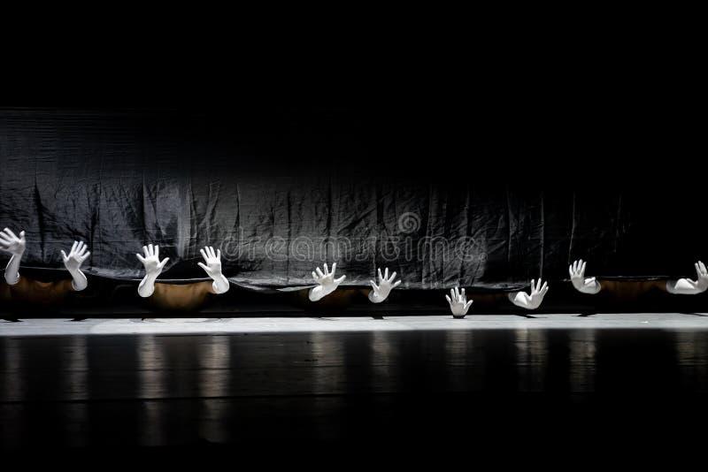 """Le monde noir et blanc du  de shelter†de dance""""No du ` s de langue-collectif-Huang Mingliang de signe images stock"""