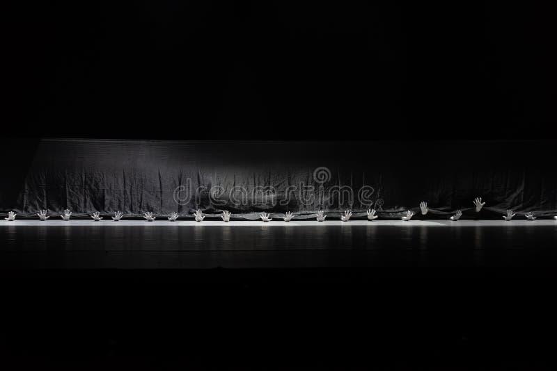 """Le monde noir et blanc du  de shelter†de dance""""No du ` s de langue-collectif-Huang Mingliang de signe photo stock"""