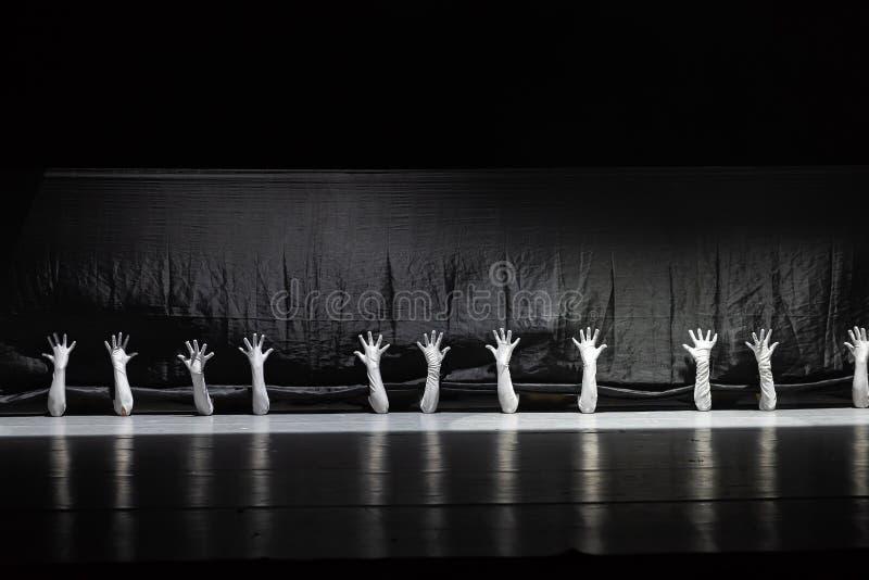 """Le monde noir et blanc du  de shelter†de dance""""No du ` s de langue-collectif-Huang Mingliang de signe photos libres de droits"""