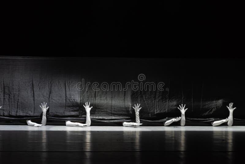 """Le monde noir et blanc du  de shelter†de dance""""No du ` s de langue-collectif-Huang Mingliang de signe photo libre de droits"""
