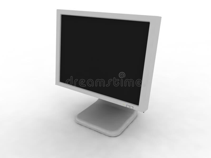Le moniteur d'ordinateur illustration libre de droits