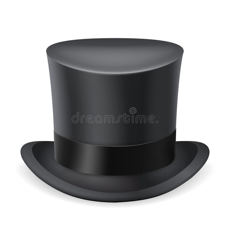 Le monsieur 3d noir anglais victorian de chapeau supérieur a isolé l'illustration de vecteur de conception de la Grande-Bretagne  illustration libre de droits