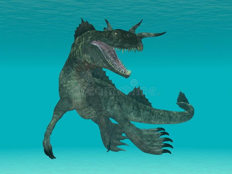 Le monstre de Loch Ness illustration libre de droits