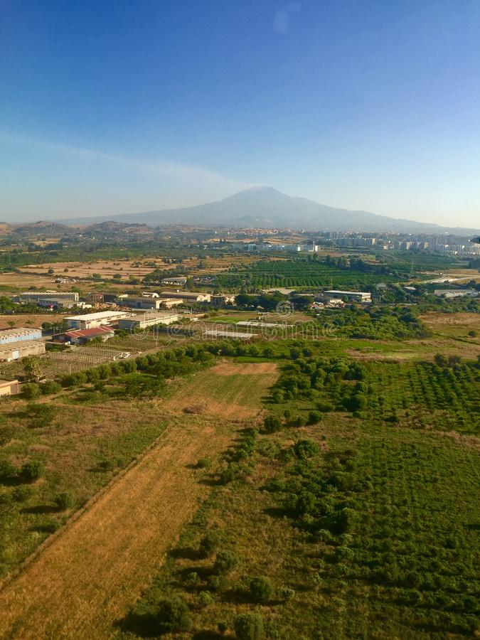 Le mont Etna, Sicile, Italie image libre de droits