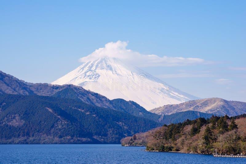 Le mont Fuji, lac Ashinoko, Hakone, Japon image stock