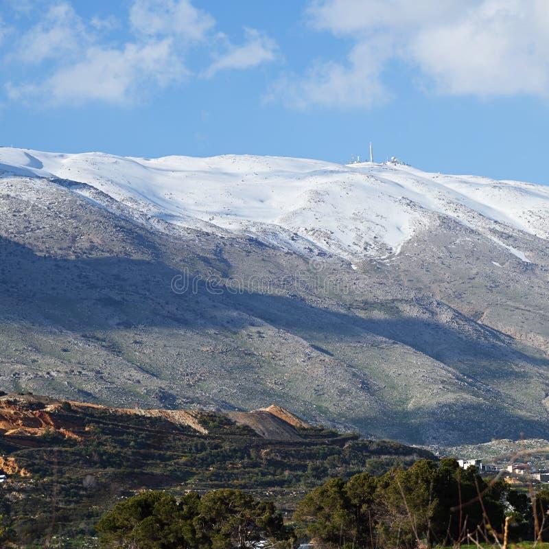 Le mont Hermon, Hauteurs du Golan, Isra?l photographie stock libre de droits