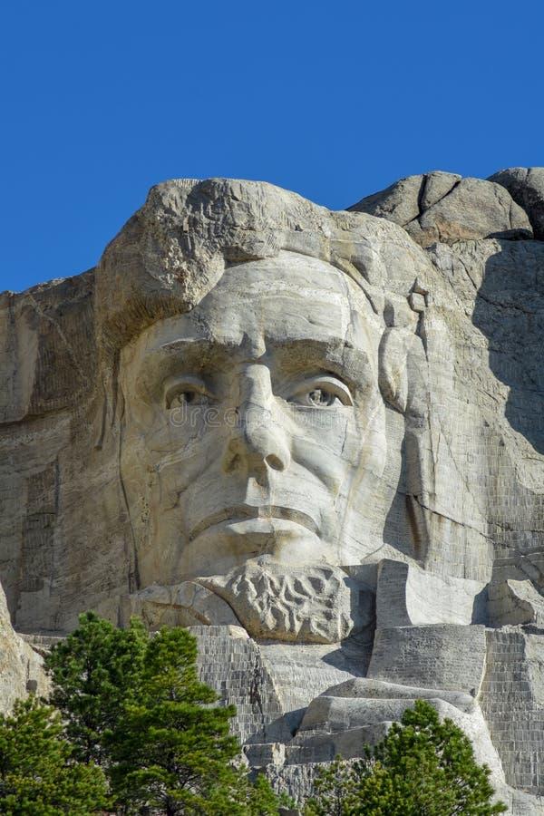 Le mont Rushmore Abraham Lincoln photographie stock libre de droits