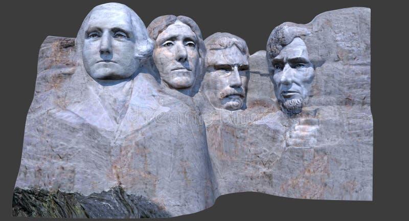 Le mont Rushmore 3D rendent illustration de vecteur