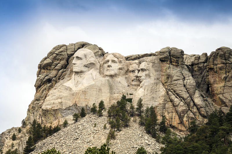 Le mont Rushmore Memorial Park national dans le Dakota du Sud, Etats-Unis Scul photos stock