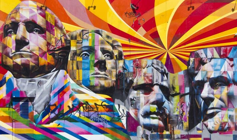 Le mont Rushmore Murales commémoratif national illustration libre de droits