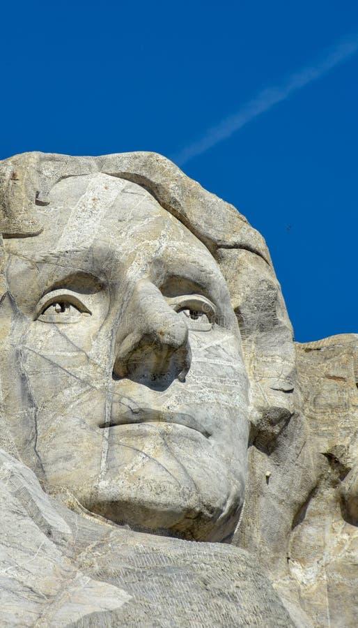 Le mont Rushmore Thomas Jefferson photographie stock libre de droits