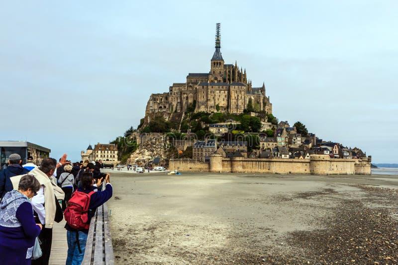 Le Mont saint michel, Bretagne, Francja obrazy royalty free