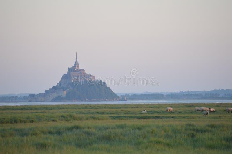Le Mont Saint-Michel, Francia fotografia stock
