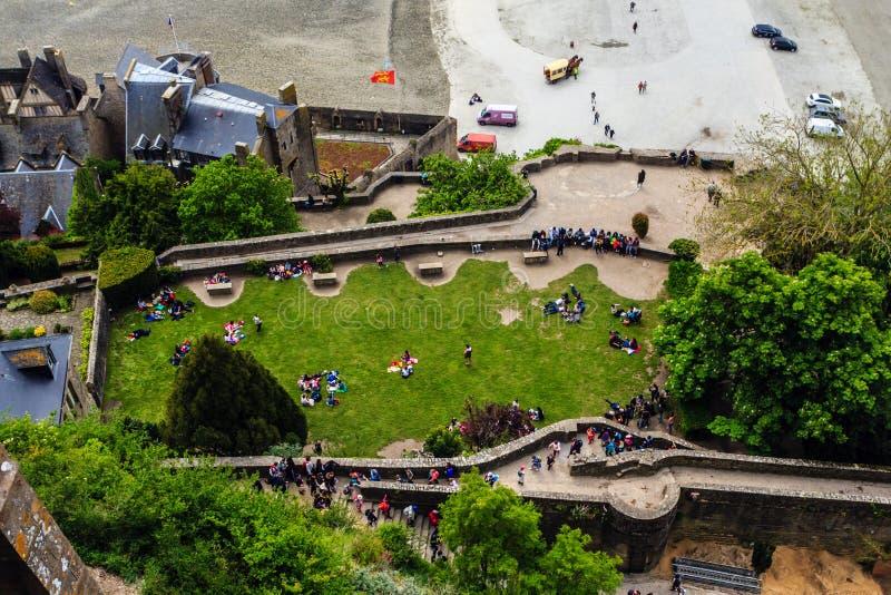 Le Mont Saint Michel, la Bretagna, Francia immagini stock libere da diritti