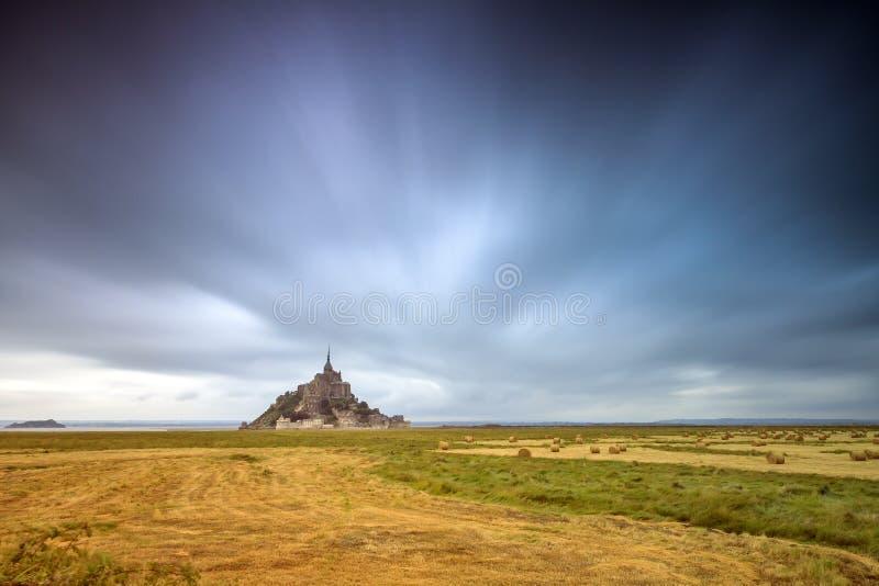 Le Mont Saint-Michel long exposure royalty free stock photo