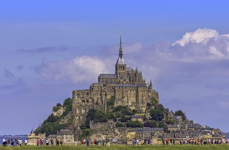 Le Mont Saint Michel - Normandie, Frankrike royaltyfria bilder