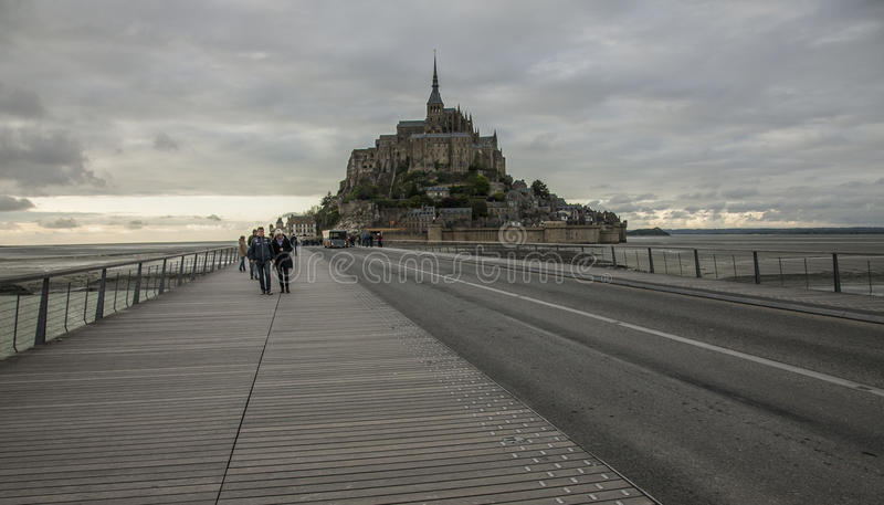 Le Mont-Saint-Michel, Normandy, France. stock photos