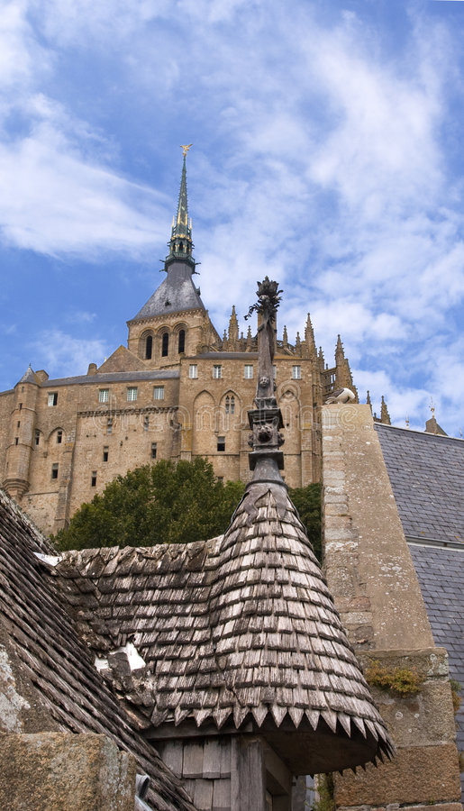 Download Le Mont St. Michel 2 stock photo. Image of windows, roofs - 5115208