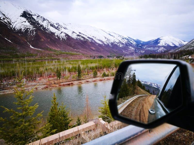 Le montagne Apgar e il Fiume Flathead della Forca Settentrionale fotografia stock