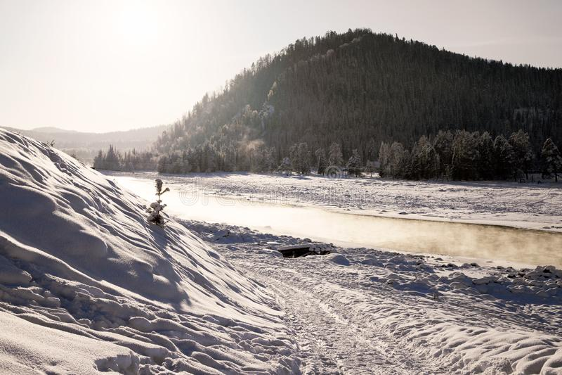 Le montagne di Altai fotografia stock libera da diritti