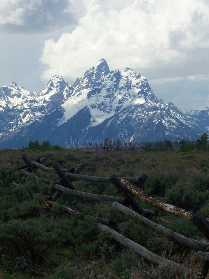 Le montagne di Teton vicino a Jackson Hole Wyoming immagine stock libera da diritti
