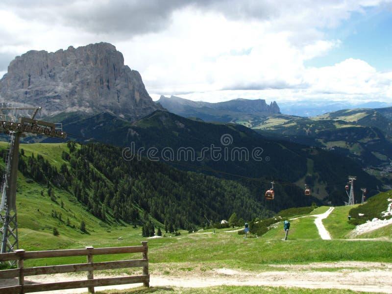 Le montagne hanno chiamato Dolomite in Italia fotografie stock