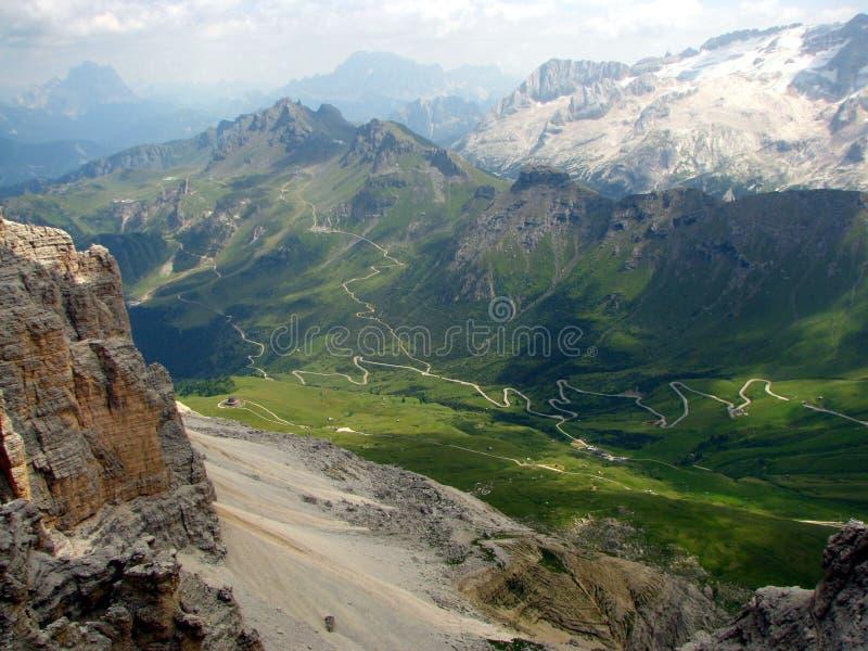 Le montagne hanno chiamato Dolomite in Italia immagine stock libera da diritti