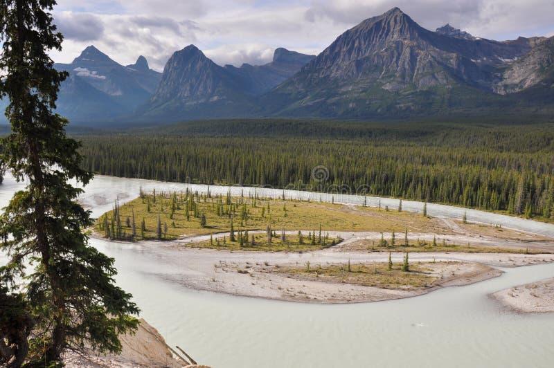 Le Montagne Rocciose in Columbia Britannica, Canada fotografia stock