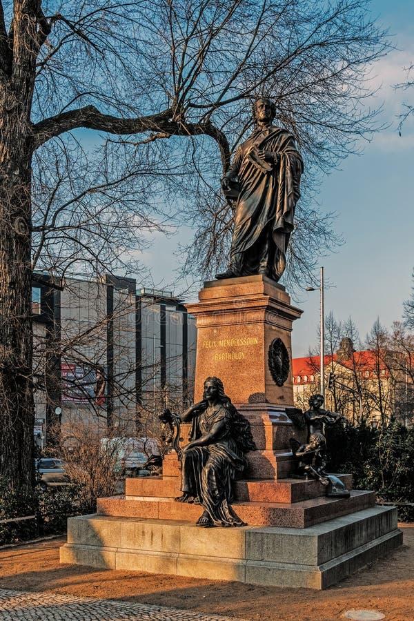 Le monument à Felix Mendelssohn-Bartholdy photo stock