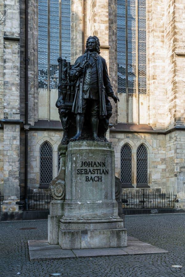 Le monument à Johann Sebasian Bach photos libres de droits