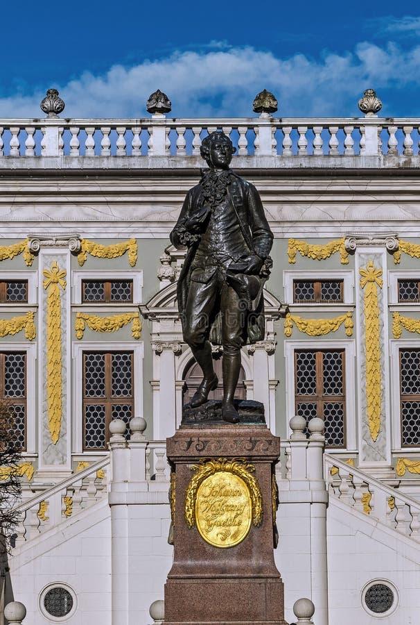 Le monument à Johann Wolfgang Goethe photo stock