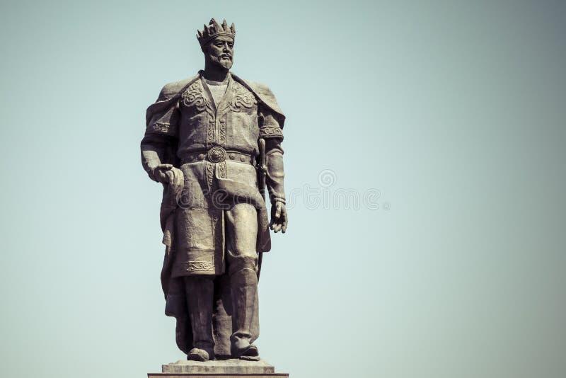 Le monument au conquérant Amir Timur de Turco-mongole dans Shahris photographie stock