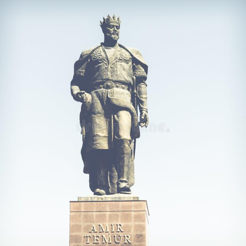 Le monument au conquérant Amir Timur de Turco-mongole dans Shahris image stock