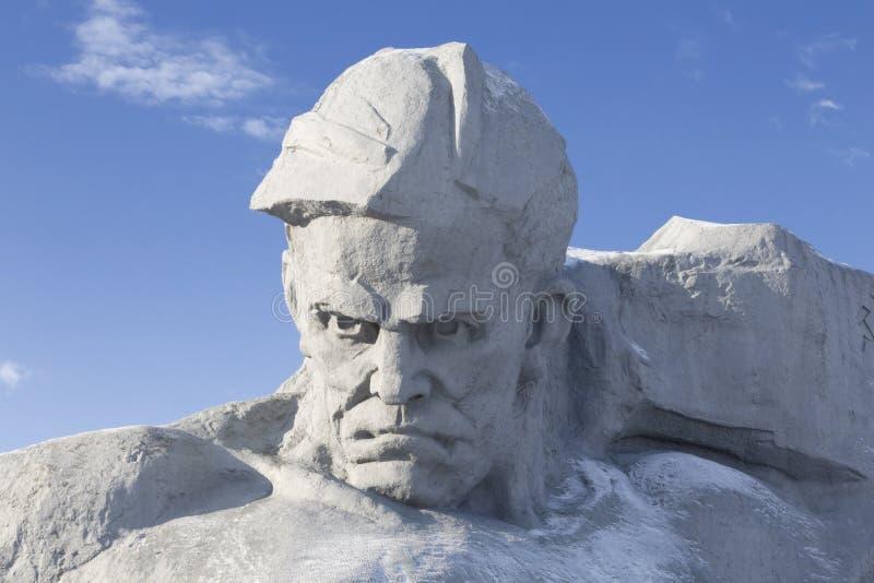 Le monument aux défenseurs de la forteresse de Brest photos libres de droits