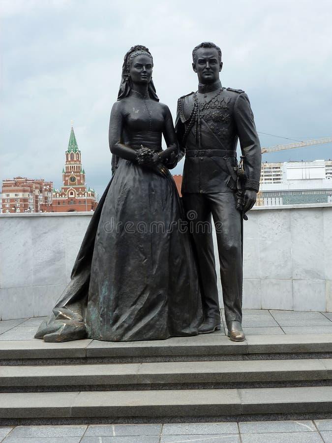 Le monument aux nouveaux mariés honorent Kelly et Rainier III image stock