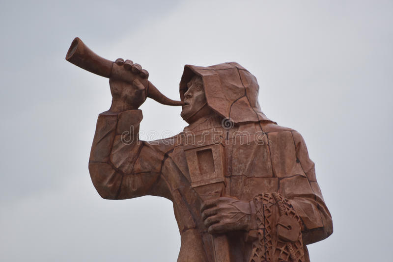 Le monument consacré au pêcheur, San Benedetto del Tronto, Italie photo libre de droits