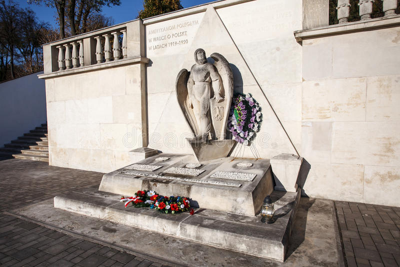 Le monument a consacré aux volontaires américains qui ont combattu sur le Poli photos libres de droits