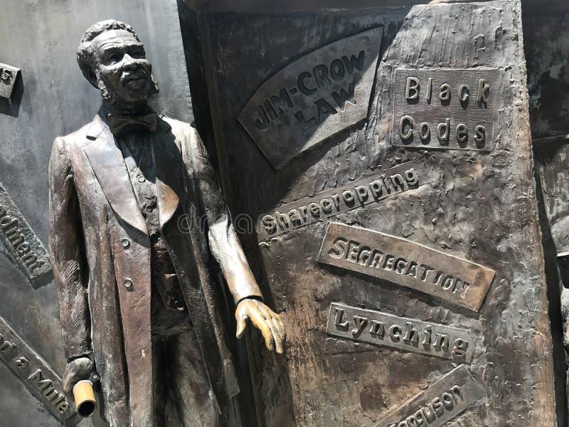Le monument d'histoire d'Afro-américain en raison de Carolina State House du sud image stock
