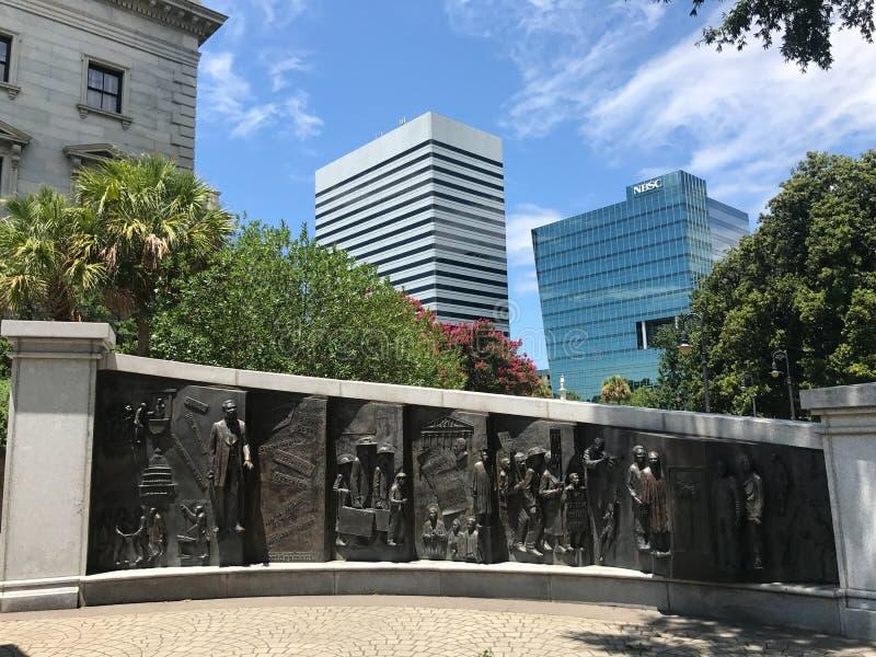 Le monument d'histoire d'Afro-américain en raison de Carolina State House du sud images stock