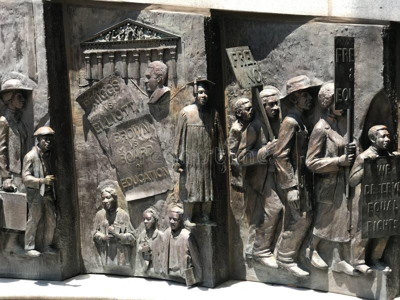 Le monument d'histoire d'Afro-américain en raison de Carolina State House du sud photos libres de droits