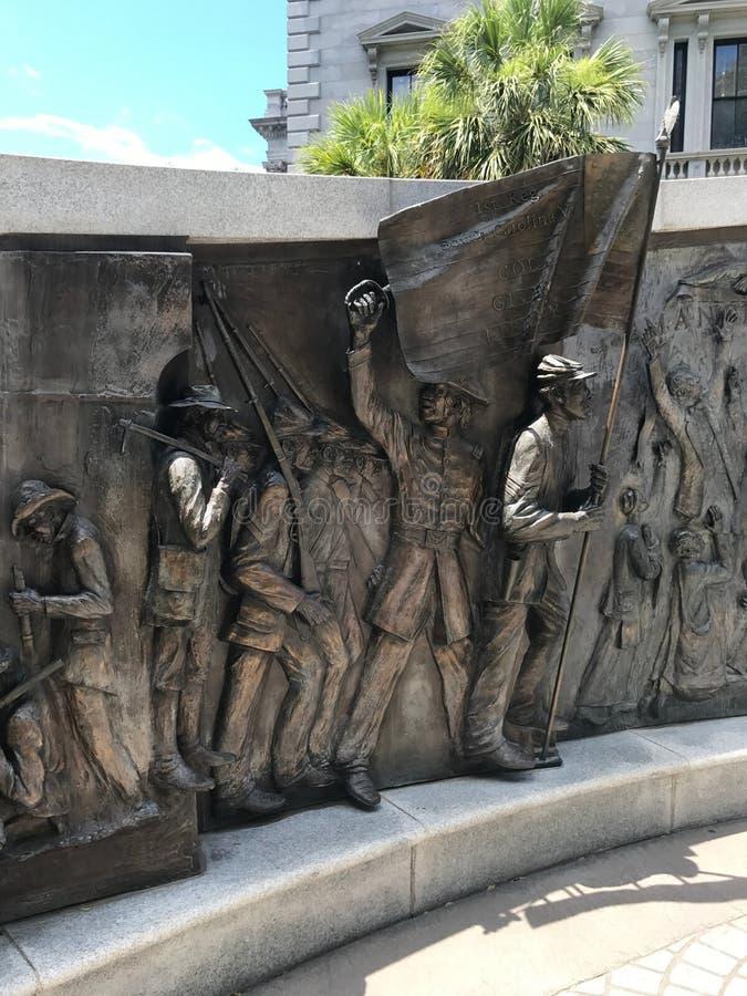 Le monument d'histoire d'Afro-américain en raison de Carolina State House du sud image libre de droits