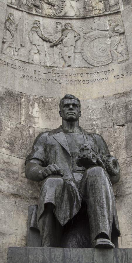 Le monument dans la place d'église, vladimir, Fédération de Russie images libres de droits