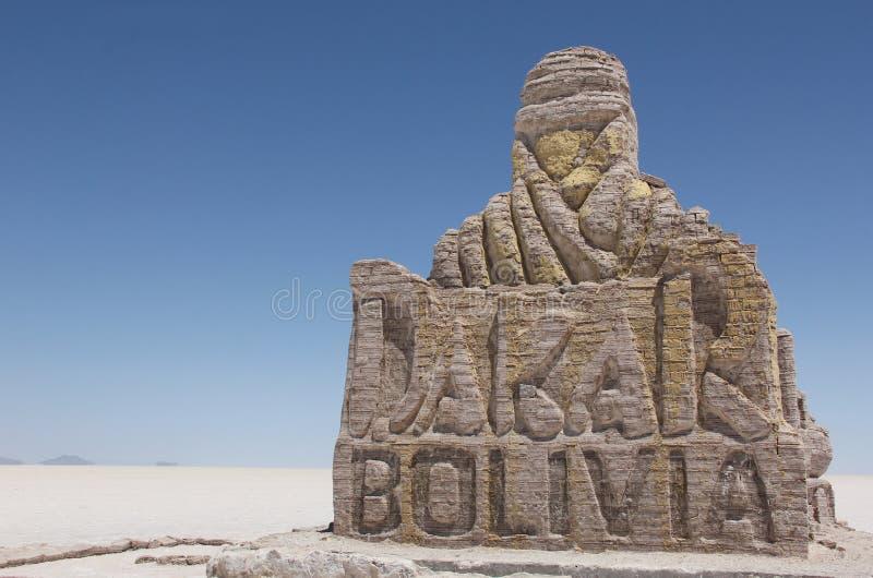 Le monument de course de Dakar en Bolivie photos stock