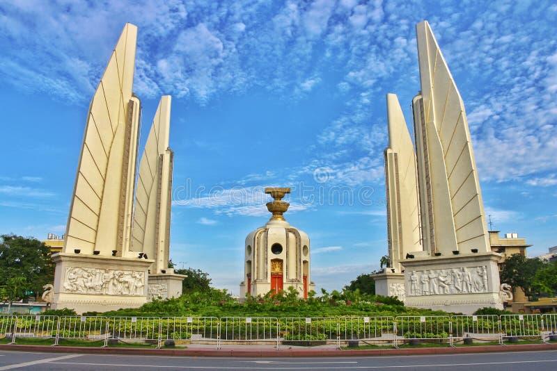 Le monument de démocratie de paysage est un symbole politique la Thaïlande du 14 octobre à Bangkok photos libres de droits