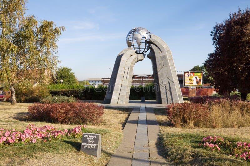 Le monument de la paix dans la ville de Krusevac en Serbie image stock